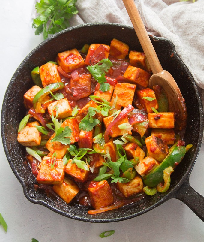 Chilli Garlic Paneer Recipe
